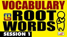 VOCABULARY ROOT WORDS   ENGLISH   SESSION 1   SBI PO 2017