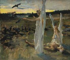 Akseli Gallen-Kallela (1865-1931), Skyddsänglarna - 1888