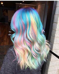 Cute Hair Colors, Pretty Hair Color, Beautiful Hair Color, Fall Hair Colors, Hair Dye Colors, Bright Hair, Pastel Hair, Funky Hairstyles, Pretty Hairstyles