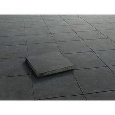 """Strukturierte Oberfläche ✓ Terrassenplatte """"Sandstein Grau-Schwarz"""" strukturiert 40 cm x 40 cm x 4 cm ➜ Terrassenplatten & Gehwegplatten bei OBI"""