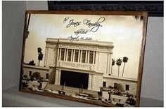 Temple craft idea.  This page has links to upload various sizes of photos for every LDS temple.