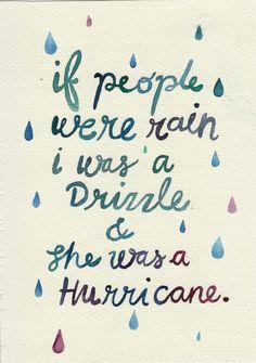 If people were rain...