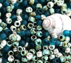 10g Toho Seed Beads Mix  Teal Ocean  MayaHoney by MayaHoney