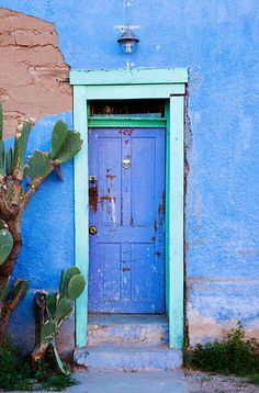 """Door 508"" - Barrio Viejo, Old town Tucson, Arizona by Zee Longenecker."