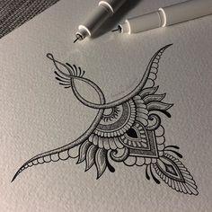 High back tattoo – nape Mandala Tattoo – Fashion Tattoos Tattoo Nape, Back Tattoo, Underboob Tattoo, Mandala Sternum Tattoo, Tiny Tattoo, Sternum Tattoo Design, Simple Mandala Tattoo, Tattoo Finger, Henna Mandala