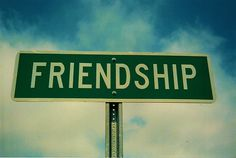 friendship road sign