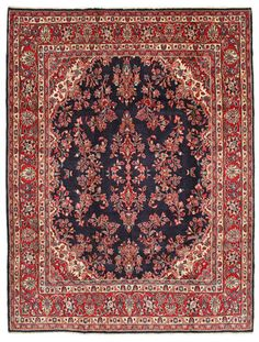 A Hamadan carpet (Persian/Iran). Hand knotted, 10 mm thkns, 228 x 302 cm, Wool pile/Cotton warp. Old. 160K knots/m2. CarpetVista/ABX152 Lovely!