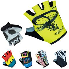 100% Lycra Breathable Racing Bicycle Cycle Glove/Black Gel Pad Cycling Gloves 2016 Pro Brand Mountain Road Bike Sports Gloves