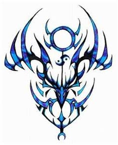 Blue Tribal Tattoos
