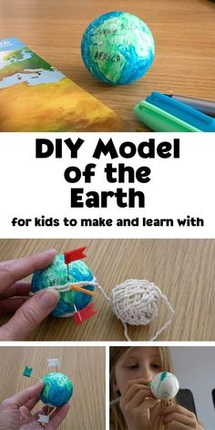 A simple craft for kids to create a mini globe that they can then use for learning about maps and the world at home or in the classroom.