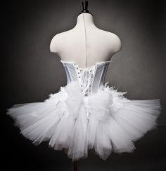 Custom Size White Swan Ballet costume Burlesque tutu by Glamtastik