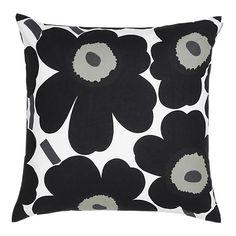 black and white marimekko unikko pillow