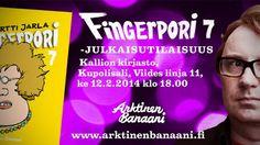 Fingerpori 7 -julkaisutilaisuus Kallion kirjastossa 12.2. klo 18.00. Tervetuloa!   Varaa Fingerpori 7: http://haku.helmet.fi/iii/encore/record/C|Rb2135705
