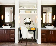 Separated Vanities - this is the one I originally had picked out for you but we had some email troubles... finally found it!