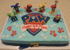 Tarta de la Patrulla Canina. Genial para una fiesta temática.#Pawpatrol #tarta