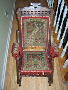 Antique Quarter Sawn T Back Tiger Oak Dining Chairs Set