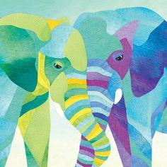 Illustration — Shanti Sparrow Elephant Illustration, Manga Illustration, Illustration Artists, Graphic Design Illustration, Digital Illustration, Illustration Animals, Elephant Poster, Elephant Quilt, Elephant Art