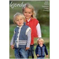 Jacket & Gilet in Wendy Supreme Luxury Cotton Chunky (5662) Digitale versie