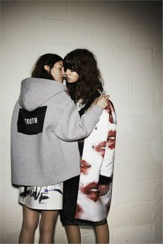 Antonina Petkovic e Kate Bogucharskaia by Giampaolo Sgura for MSGM Fall/Winter 2014-2015 ad campaign