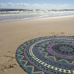 Indian Mandala Round Roundie Beach Throw Tapestry Hippy Boho Gypsy Cotton Tablecloth Beach Towel , Round Yoga Mat Labhanshi  http://www.amazon.com/dp/B00Z0V23SQ/ref=cm_sw_r_pi_dp_9.g-wb1G1FGZ1