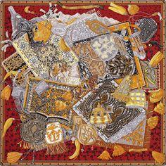 90 x 90 cm scarf Hermès | Cavaliers du Caucase