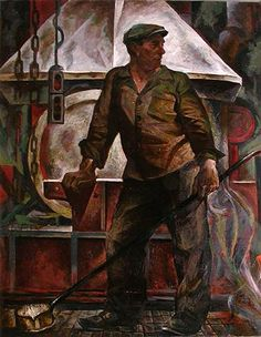 Fore man of Foundry Workers social realism - oil painting Oil Painting Pictures, Paintings I Love, Art Pictures, Watercolor Paintings, Oil Painting For Sale, Figure Painting, Social Realism Art, Office Mural, Soviet Art