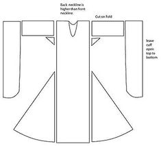 woman's gown pattern As continues to be true throughout our period, people dressed in layers. The three visible layers can be called the shirt, the gown and the mantle.
