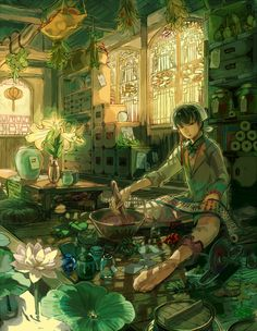 Character Art, Character Design, Illustrations, Illustration Art, Witch Art, Environment Concept Art, Anime Scenery, Fantastic Art, Conceptual Art