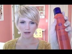 just one more short style - I like that she gives a product list of what she uses