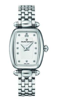 Claude Bernard 20211 3M AIN Women's Watch Silver Stainless Steel Tonneau Case