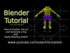 Blender 3D Tutorial Rigify Pt 1 - How to Generate Your Meta Rig Like a Pro by VscorpianC