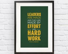 Vince Lombardi Green Bay Packers Inspirational by FineSportsPrints