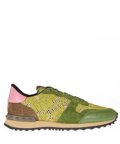 Valentino Green Rockrunner Lace Leather Trainers   Women's Shoes   Liberty.co.uk