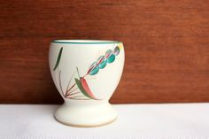Denby Greenwheat Egg Cup, Denby Egg Cup, Stoneware Egg Cup, Vintage Denby Stoneware by BabisTreasures on Etsy