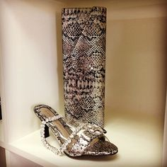 mina martini and kelly brown metallic snake heel and clutch combo with a little bit of sugar sugar