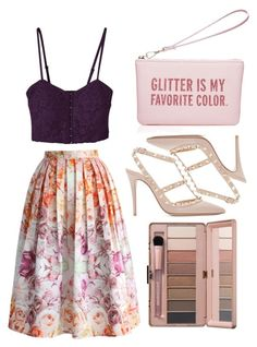 """""""Untitled #4862"""" by prettyorchid22 on Polyvore featuring moda, Valentino, Chicwish y Kate Spade"""