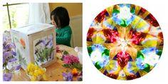 Nature Art for Kids - 3D Nature Suncatcher and a Nature Kaleidoscope