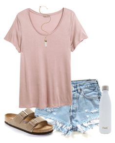 """""""sould i make a spring break look book?"""" by mlainezrubi on Polyvore featuring Birkenstock, H&M, S'well, women's clothing, women, female, woman, misses and juniors"""