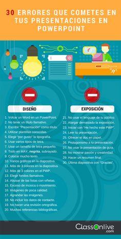 30 errores que cometes en tus presentaciones en PowerPoint - ClassOnLive