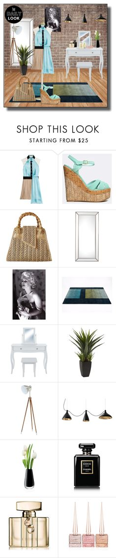 """""""Daily Look 02/09/17"""" by kelly-floramoon-legg on Polyvore featuring FAUSTO PUGLISI, Qupid, Chanel, Umbra, LSA International, Gucci, Christian Louboutin, Clinique and trends"""