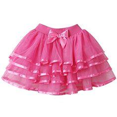 03764839c0834e Adorel Mädchen Tüllrock Tutu Rock Mehrlagig mit Schleife #Bekleidung # Mädchen #Bekleidung #Mädchen