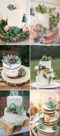 gorgeous succulent wedding cakes ideas #SeptemberWeddingIdeas