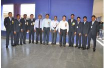 Director of SREC Dr.P.Venkateswarlu HOD N.Suman Kumar With Final Year Students at an Event