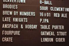 white letters black board Tap Room, White Letters, Crates, Brewing, Ale, Menu, Board, Menu Board Design, Ale Beer