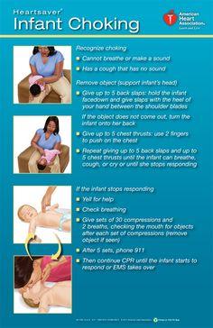 Infant choking poster