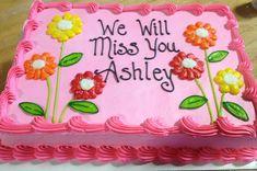 Going away cake Buttercream Cupcakes, Cake Icing, Cupcake Cakes, Cake Decorating Videos, Cake Decorating Techniques, Pastel Rectangular, Going Away Cakes, Goodbye Cake, Sheet Cakes Decorated