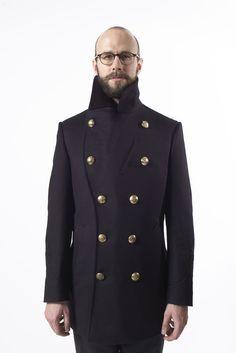 Gieves pea coat bespoke