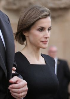 Queen Letizia of Spain is seen arriving for the funeral services for Germanwings Flight 9525 held at the Sagrada Familia on April 27, 2015 in Barcelona, Spain. Germanwings Flight 9525 crashed in the French alps killing all 150 aboard on March 24, 2015.
