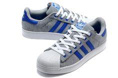 Adidas Superstar Shoes Grey Blue Milk Studios, Superstars Shoes, Man Up, Jeremy Scott, Adidas Superstar, Blue Shoes, Shoe Sale, Adidas Originals, Blue Grey