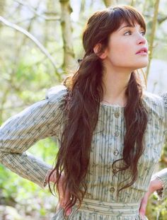 Pretty natural long hair- I am not fussy on the 1830's style dress thing she's wearing, buy nice hair.